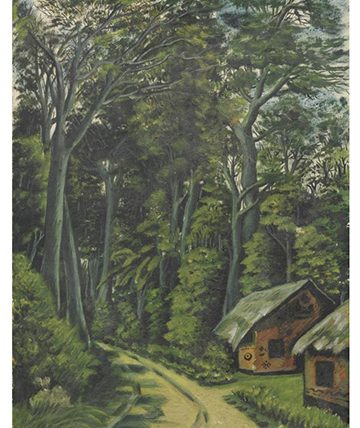 A Forest Path Oil on Canvas Board 38 x 27.5cm.