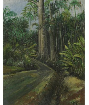 A Forest Path, 1973, Oil on Canvas 61 x 46 cm