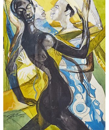 Africa Dances, 1987, Paintings, Gouache on Board, 72 x 50.5 cm