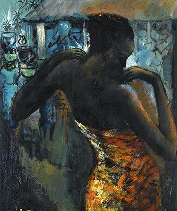 Africa Dances 1962, Oil on Canvas, 51 x 41 cm