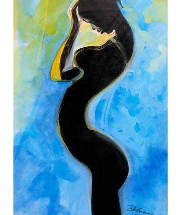 Ben Enwonwu, Negritude, 1992, gouache on paperboard, 79 x 51cm