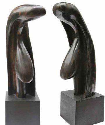 Ben Enwonwu, Untitled, wood, 50 cm