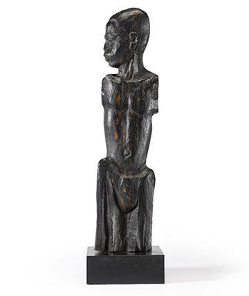Bust of Boy, Okpu Musa of Benin,1949, Ebony 83 x 23 x 23 cm. (Including Base)