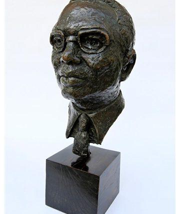 Bust of Deninis Osadebay, Bronze Resin 41 x 21 x 25.5cm.
