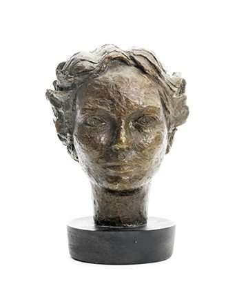 Bust of Kate Etty-Leal Bronze 24 x 19 x 19.5cm ) Excluding Base