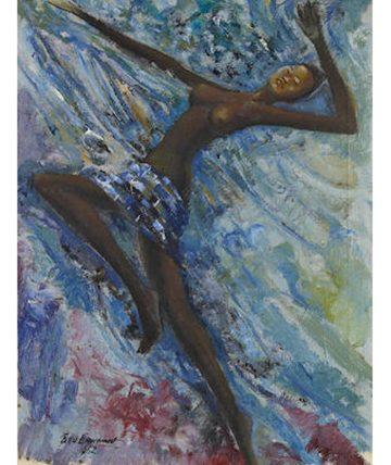 Dancer, 1962,  Oil on Canvas 58.5 x 43cm