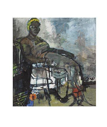Grandma , 1959, Oil on Canvas 64 x 61cm (25 316 x 24in)