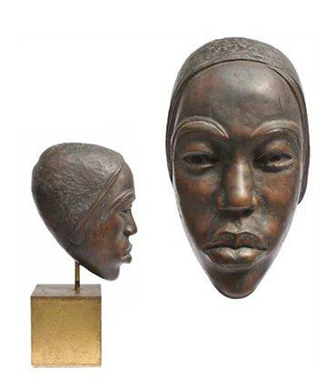 Head of Caroline Fibre Glass Overall Height- 48.7 cm.