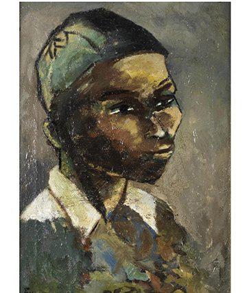 Head Study ,1951, Oil on Canvas 47 x 33.5cm