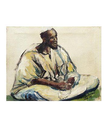 Islamic Cleric Oil on Canvas 33 x 41cm