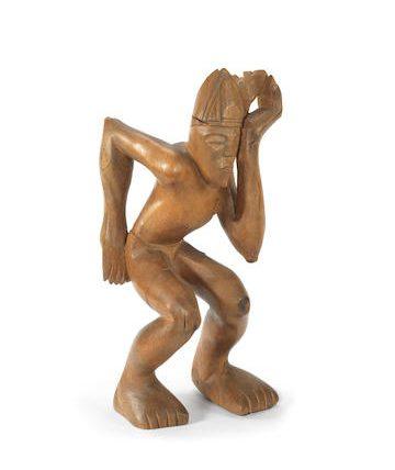 Itachafo Muo (Figure in Action) Oak 41.5 x 18 x 17cm.