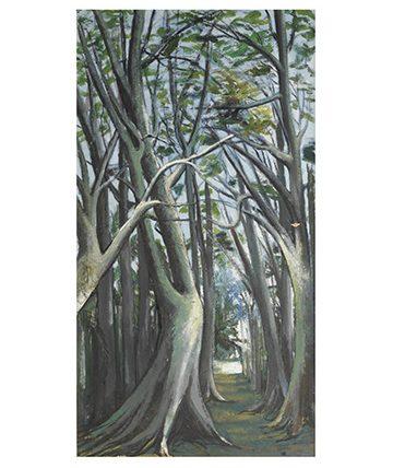 Jungle Path Oil on Canvas 132 x 70cm.