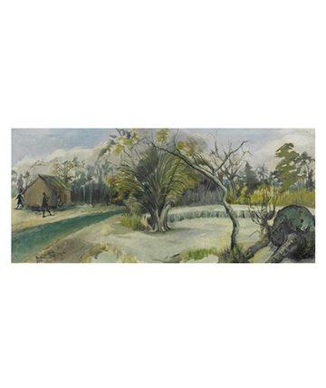 Lagoon Oil on Canvas 44 x 102cm.