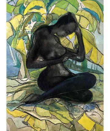 Negritude, 1990, watercolour on paper, 78.5 x 53cm