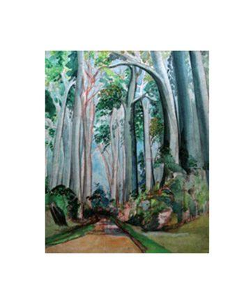 Nigerian Road Watercolour on Paper 63.5 x 49.5 cm.