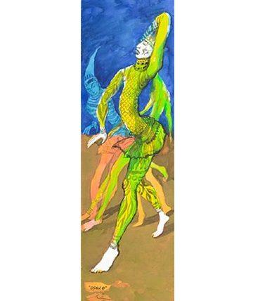 Ogolo , 1990 Watercolor 76 x 23cm.