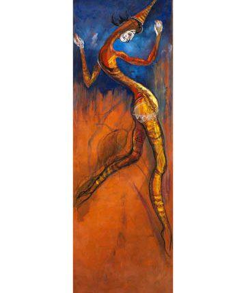 Ogolo, 1992, oil on canvas, 194 x 60cm