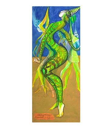 Ogolo (Adonis) , 1990,  Watercolor,  76 x 31.5cm.
