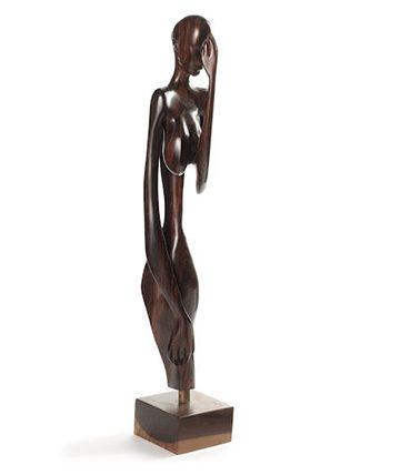 Ote Egwu, Ebony Wood, 114cm