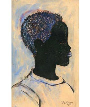 Portrait of a Black Boy, 1955 Watercolour, ink on Card Board 42 x 27 cm. (16.5 x 10.5 in.)