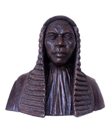 Portrait of Sir Louis Mbanefo, 1979, resin, 51 x 52cm