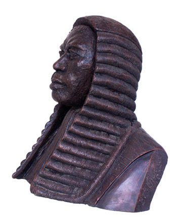 Portrait of Sir Louis Mbanefo, 1979, resin, 51 x 52cm sideview