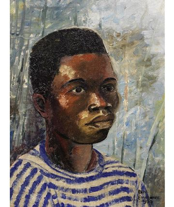 Portrait of a Young boy , 1954 Oil on Canvas Board 34 x 24cm (13 38 x 9 716in)