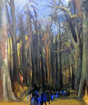 Procession in the Forest Oil on Canvas 120 x 90 cm.