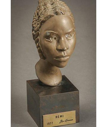 Remi,Bronze Composite Sculpture, 15.9 x 3.81 cm.