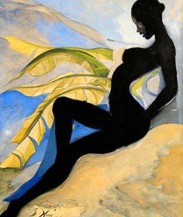 Rhapsody in Blue, 1988, gouache, 100.5 x 75cm