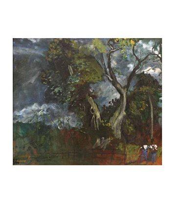 Storm at Umunede , 1978, Oil on Board 76 x 101.5 cm.