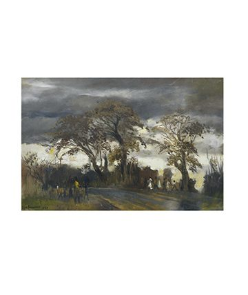 Stormy Day , 1989, Oil on Canvas 60 x 91cm.