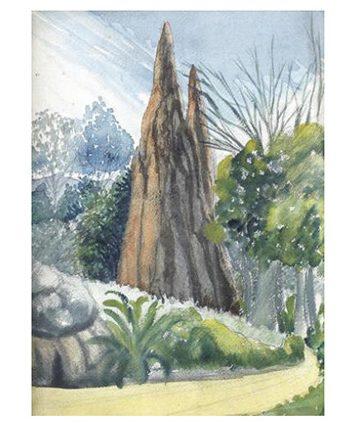 The Termite Mound Watercolour 39 x 28.5cm.