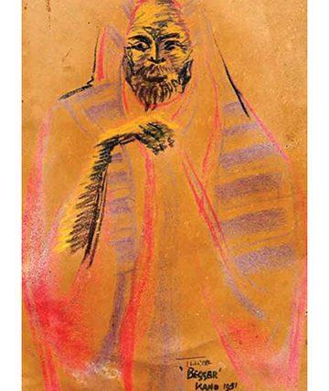 Toareg Beggar,1951,Gouache on Paper 34 x 23 cm.