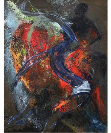 Untitled, 1981 Oil on Board 57.1 x 46.7 cm.