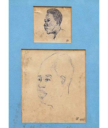 Untitled (Study of a Man), 1951 Pen on Paper 30 x 18 cm. (12 x 7 in.)