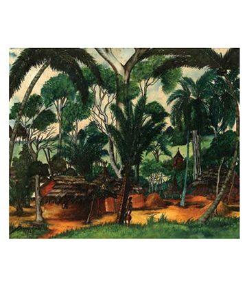 Umudike , 1940, Gouache on Paper 35.56 x 41.91 cm.