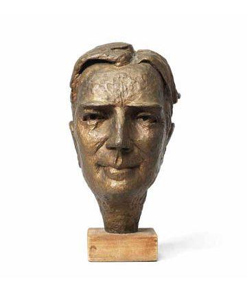 Ben Enwonwu, Bust of Dr Kenneth Mellanby, bronze, 28 x 18 x 26cm