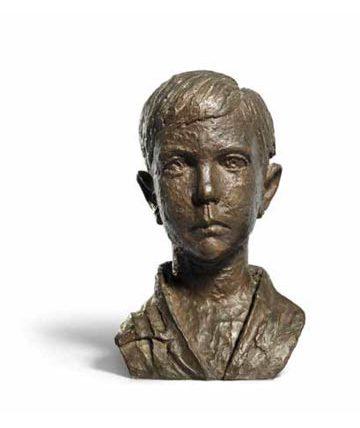 Ben Enwonwu, Bust of a Boy, 1961, bronze resin, 33 x 22 x 20cm