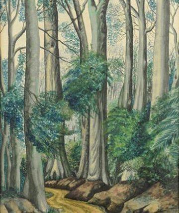 'Way down Siloko' Watercolour 34.5 x 25.5cm.