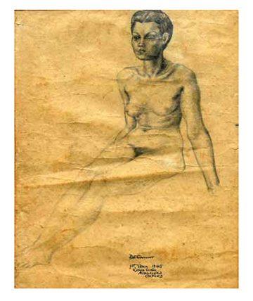 Nude, 1945, Graphite