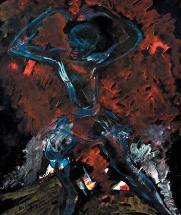 Blueboy, 1959, Gouache on Paper