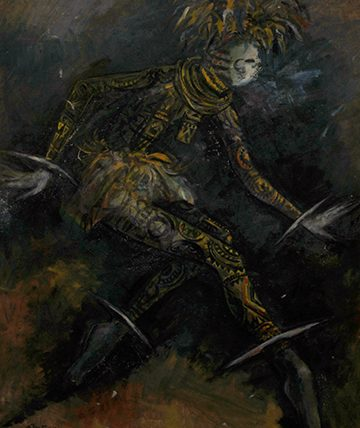 Africa Dances/Agbogho Mmuo, 1949, Oil on Canvas
