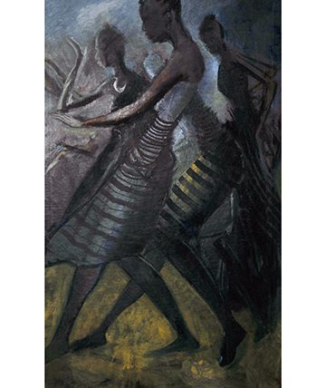 Africa Dance, 1973, Oil on Canvas, Collection of the National Gallery of Modern Art, Lagos. Nigeria.