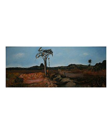 Old Ikorodu Road, Oil on Board